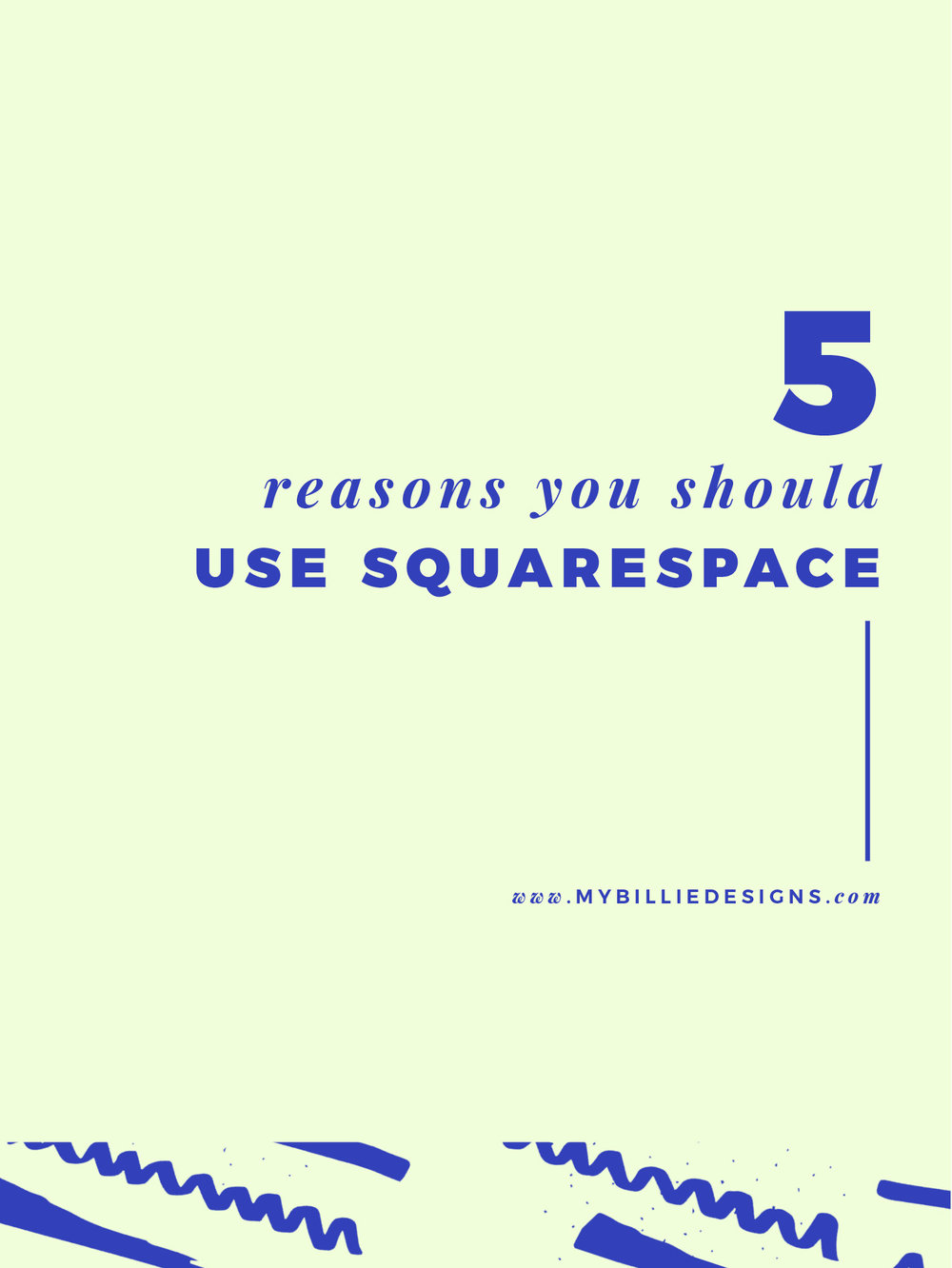 5 reasons you should use Squarespace for your business website. Click through to read →