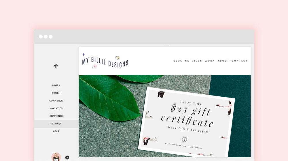 How to set up a Squarespace website