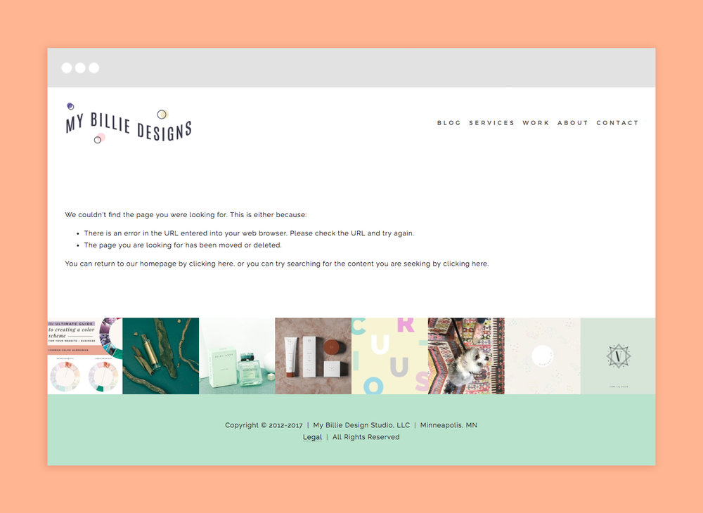 Did you know you can customize the 404 error page on your Squarespace website?