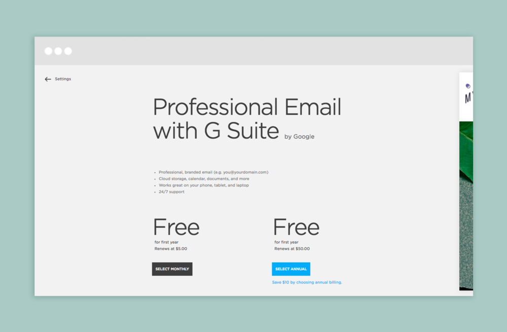 Set up professional email with your domain on Squarespace