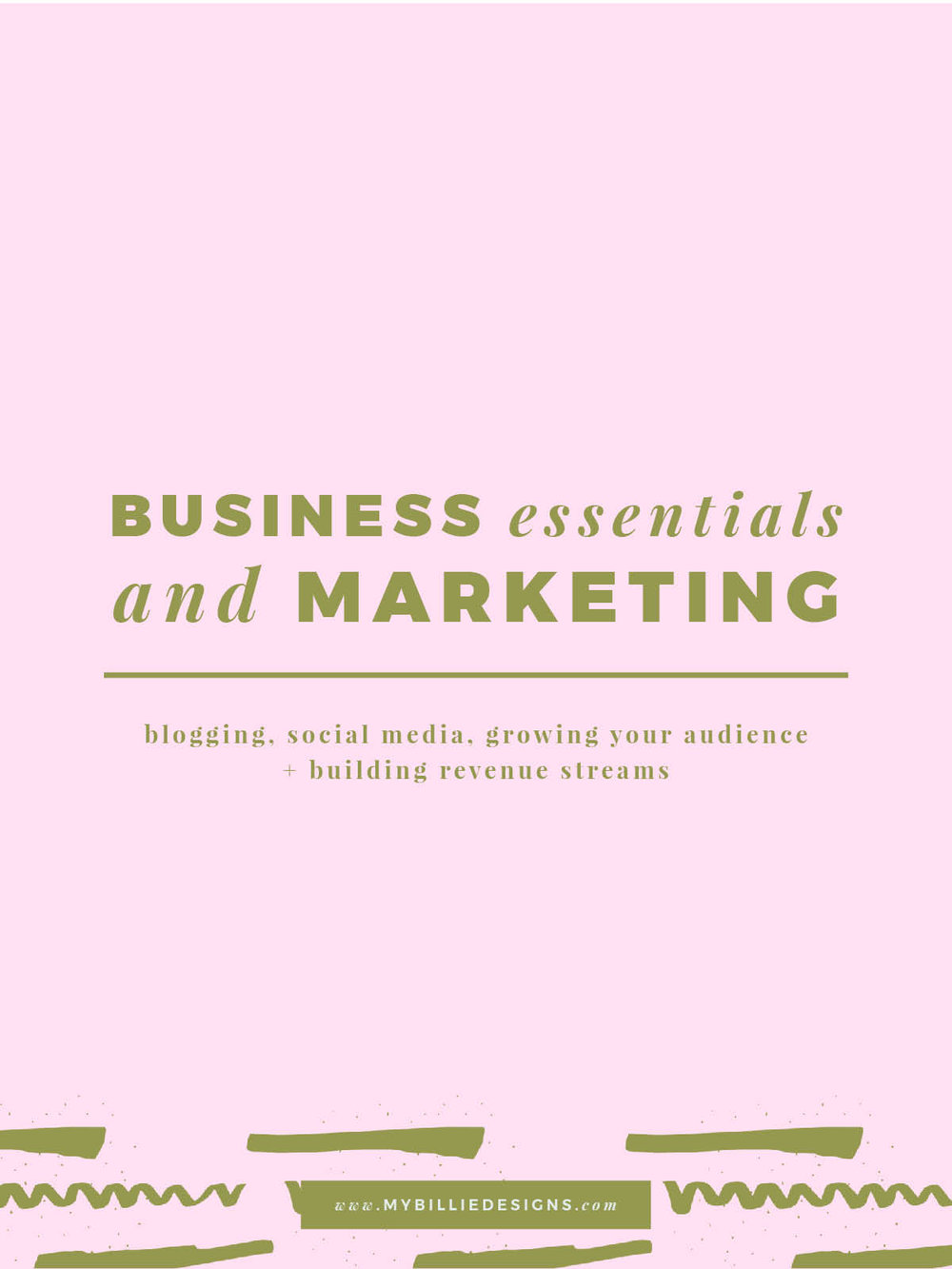 Online business essentials: blogging, social media, growing your audience and building revenue streams!
