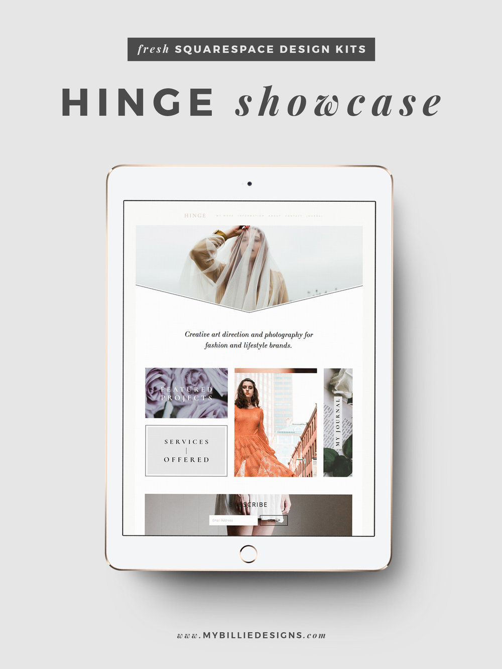 MBD Squarespace Design Kits | Hinge Design + Customization Ideas