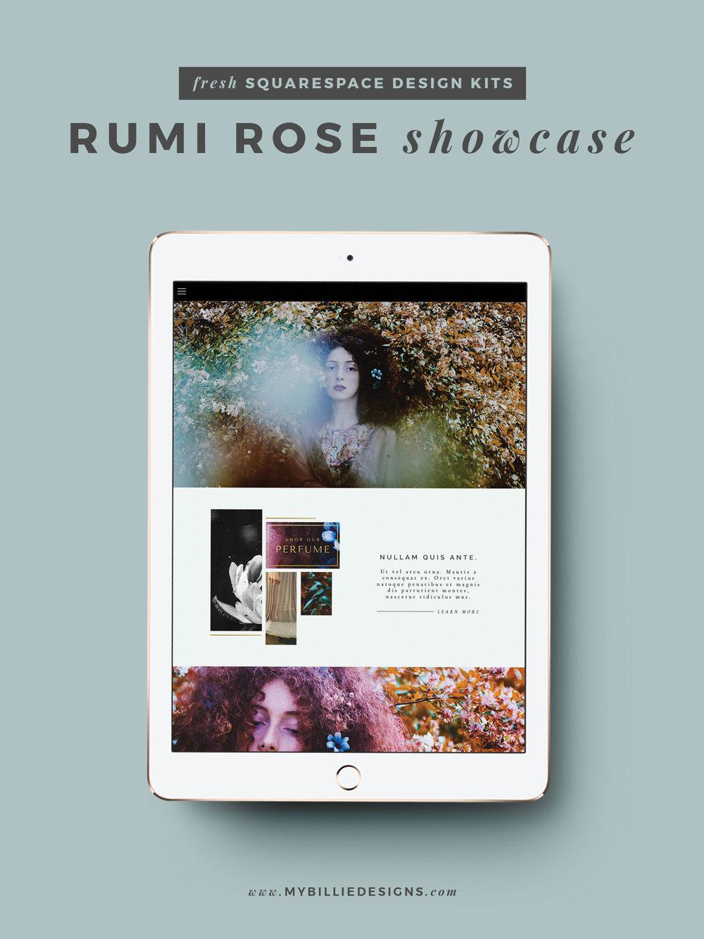 MBD Squarespace Design Kits | Rumi Rose Design + Customization Ideas