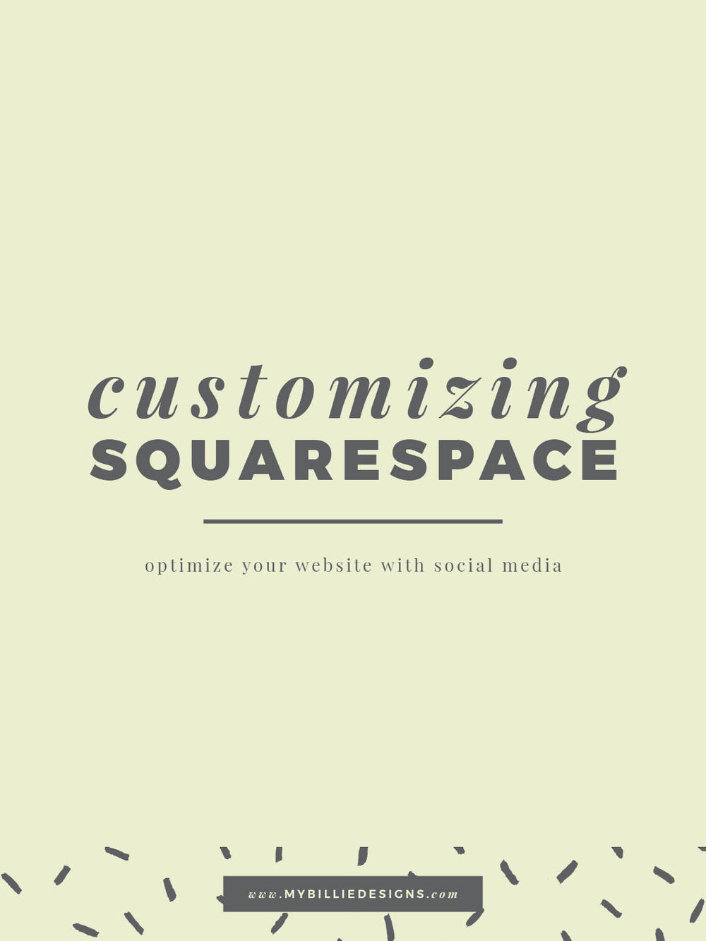 Customizing Squarespace! Optimize your website for social media. Click through to read →