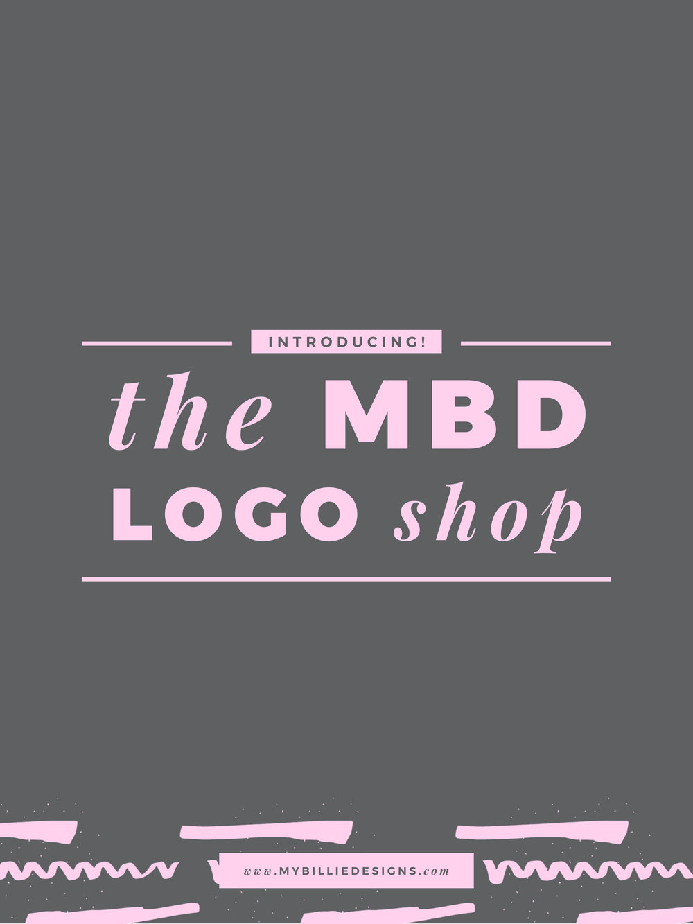 Introducing The MBD Logo Shop: you pick a logo, the studio customizes it for you, BAM!