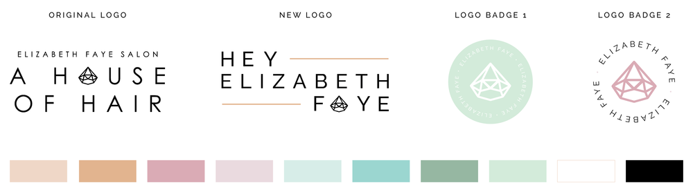 Elizabeth Faye logo set brand colors