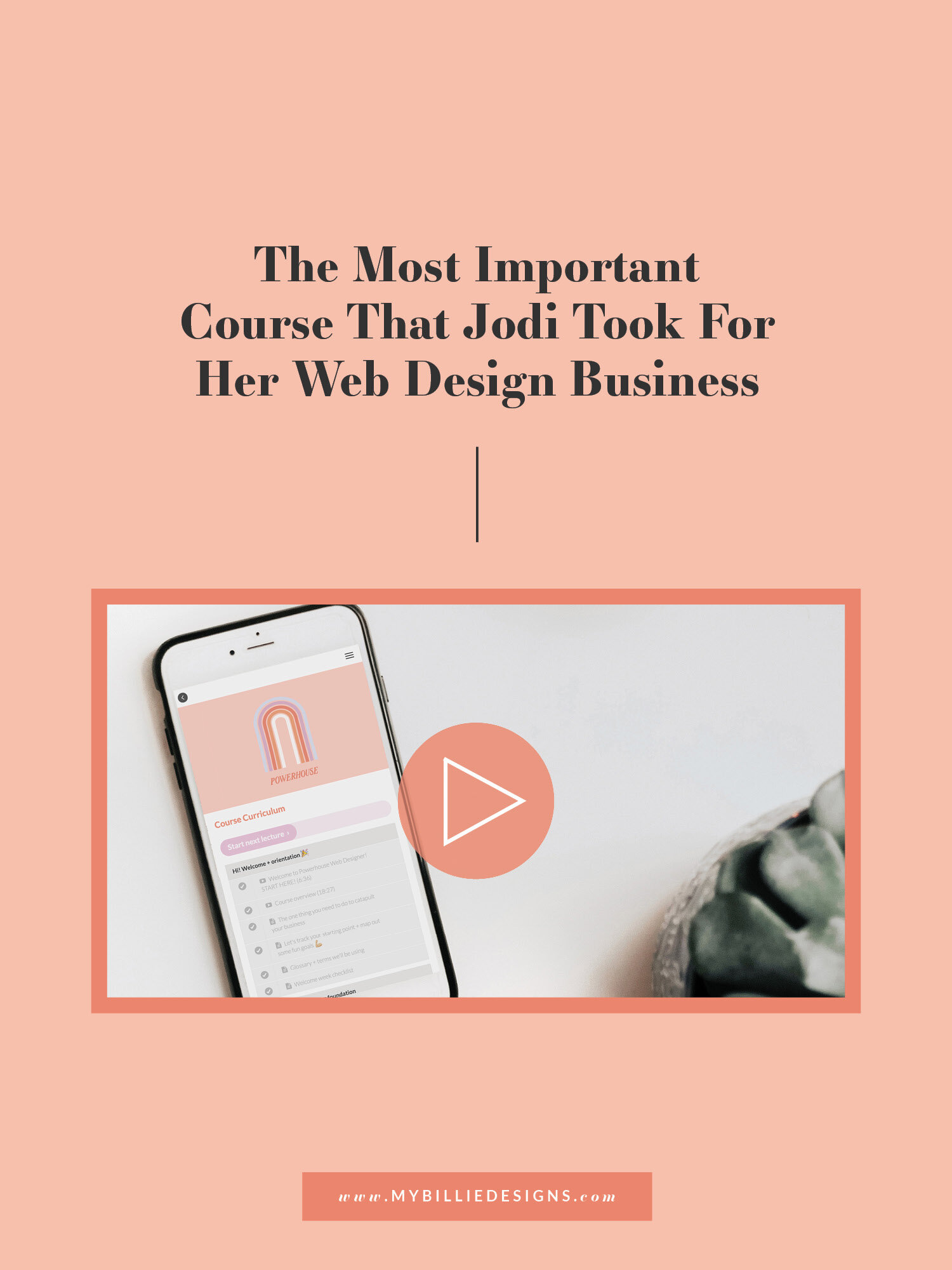 The Most Important Course That Jodi Took For Her Web Design Business My Billie Designs