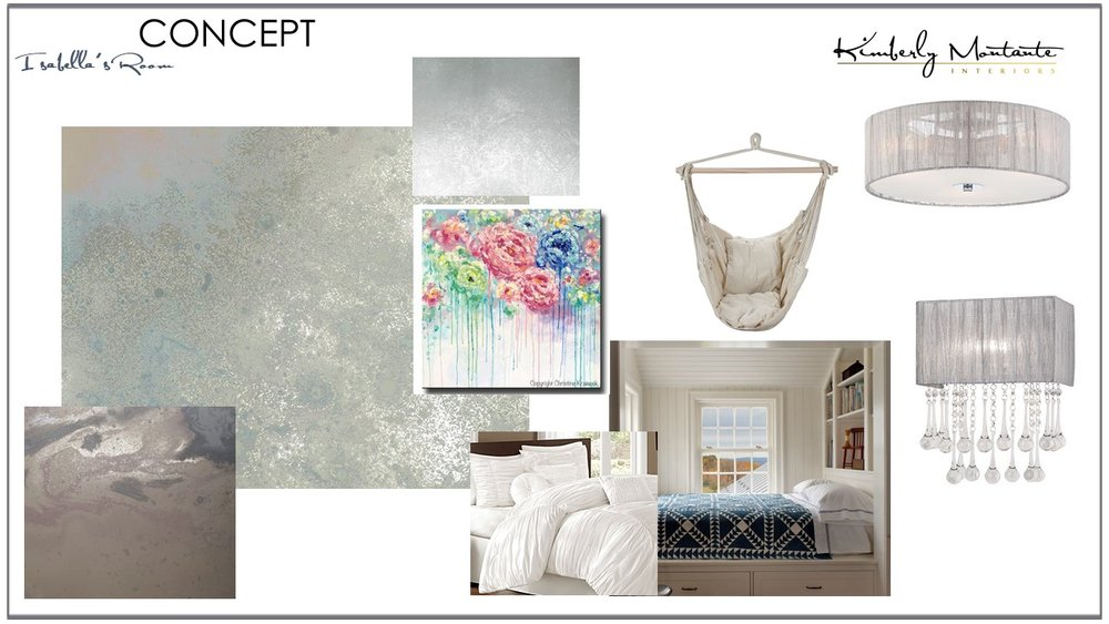 Teenage Dreamy Bedroom Concept - Kimberly Montante Interiors