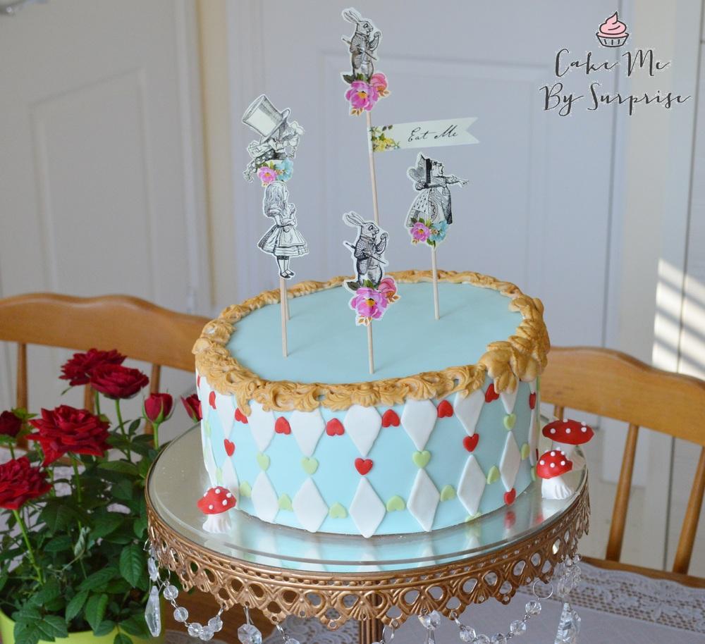 Queen of Hearts Alice in Wonderland Cake
