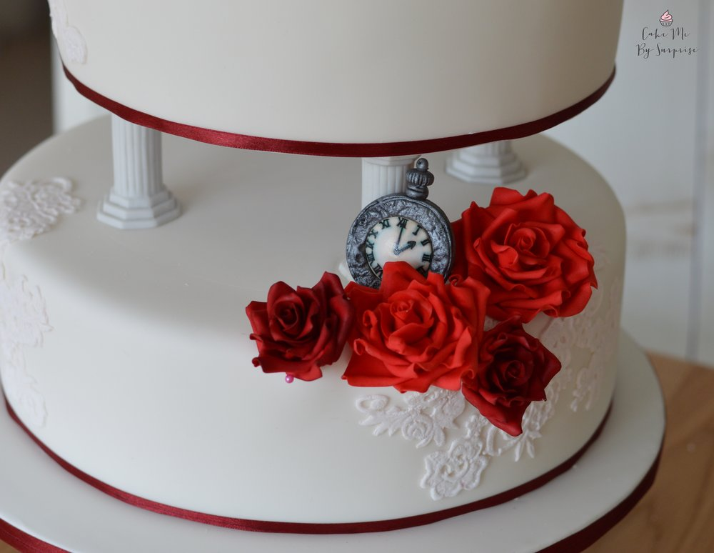 Antique pocket watch wedding cake