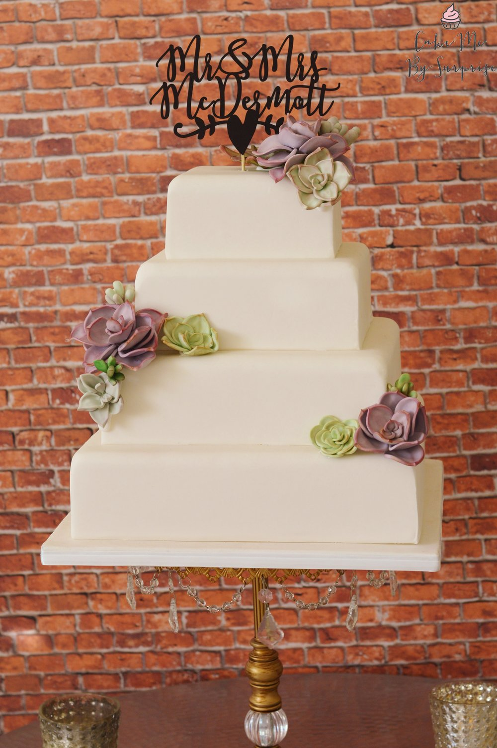 Succulent Wedding Cake Square