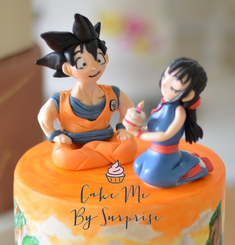 Goku and Chi chi birthday cake