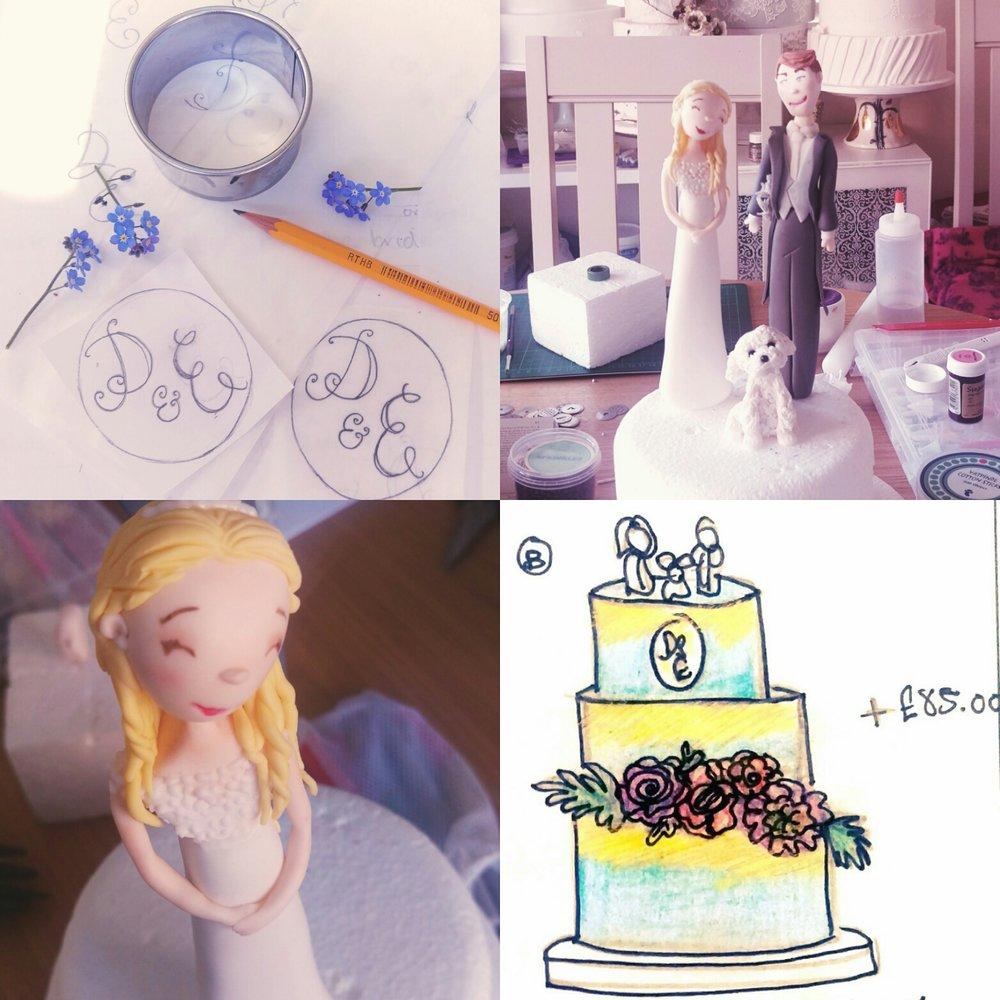 Design of wedding cake April 2017