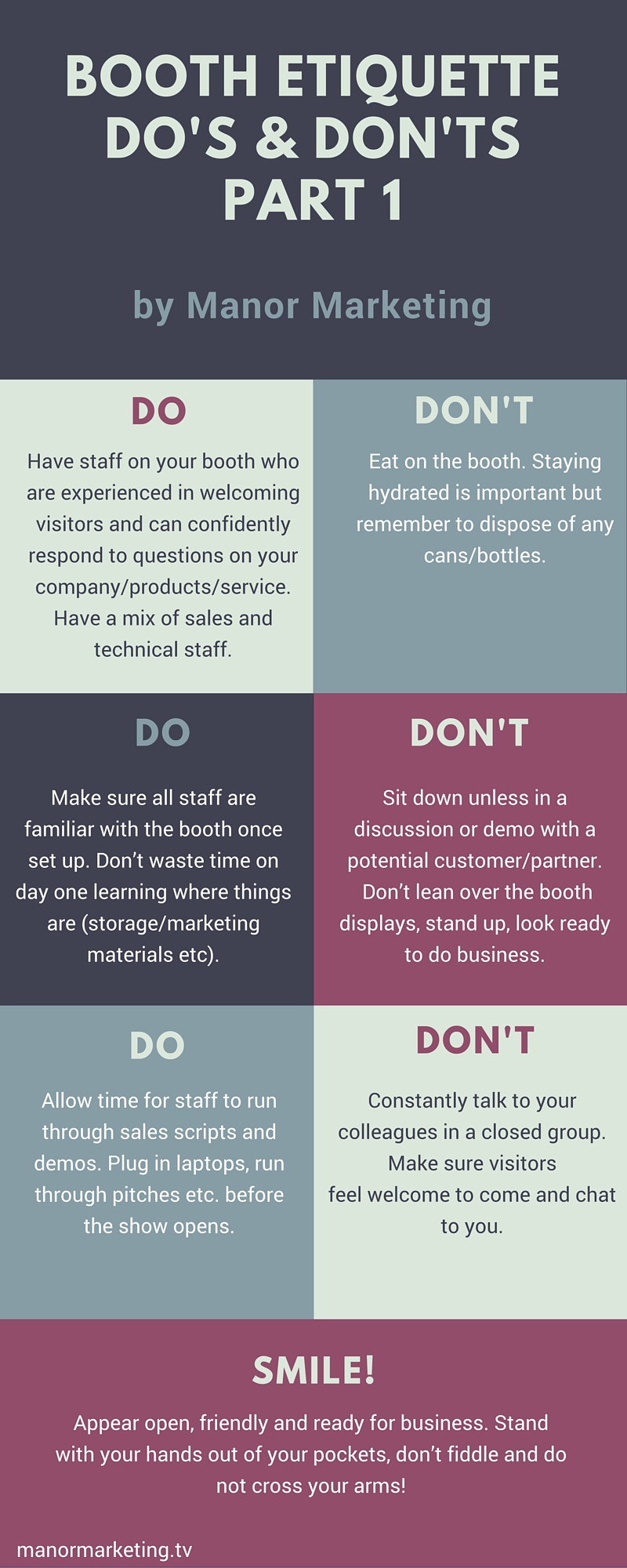 Trade Show Booth Etiquette : Booth etiquette a guide for your employees at shows events