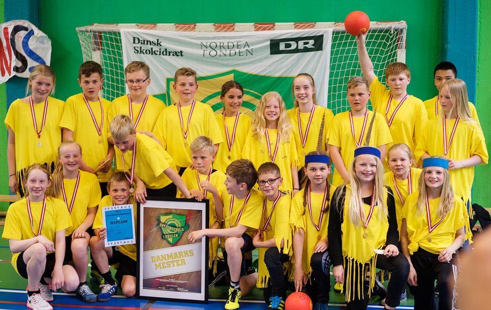 The Indians, Rosendalsskolen fra Hobro blev danske mestre i HØVDINGEBOLD for 5. klasse den 12. - 13. maj i Ballerup.