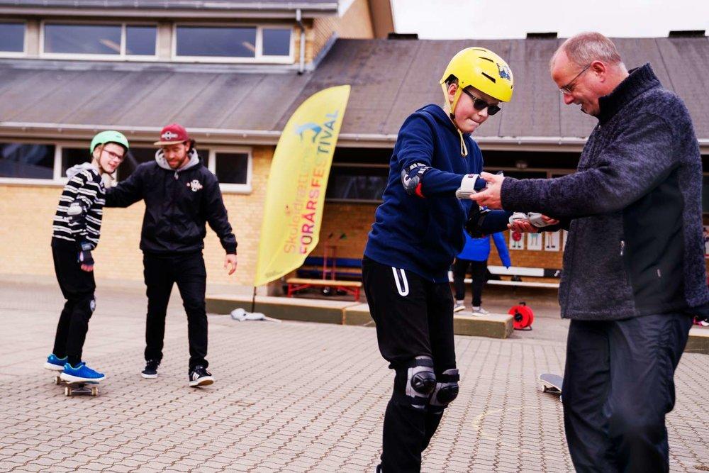 Firkløverskolen i Randers, der er en skole for børn med særlige behov, deltog i Skoleidrættens Forårsfestival 2017.