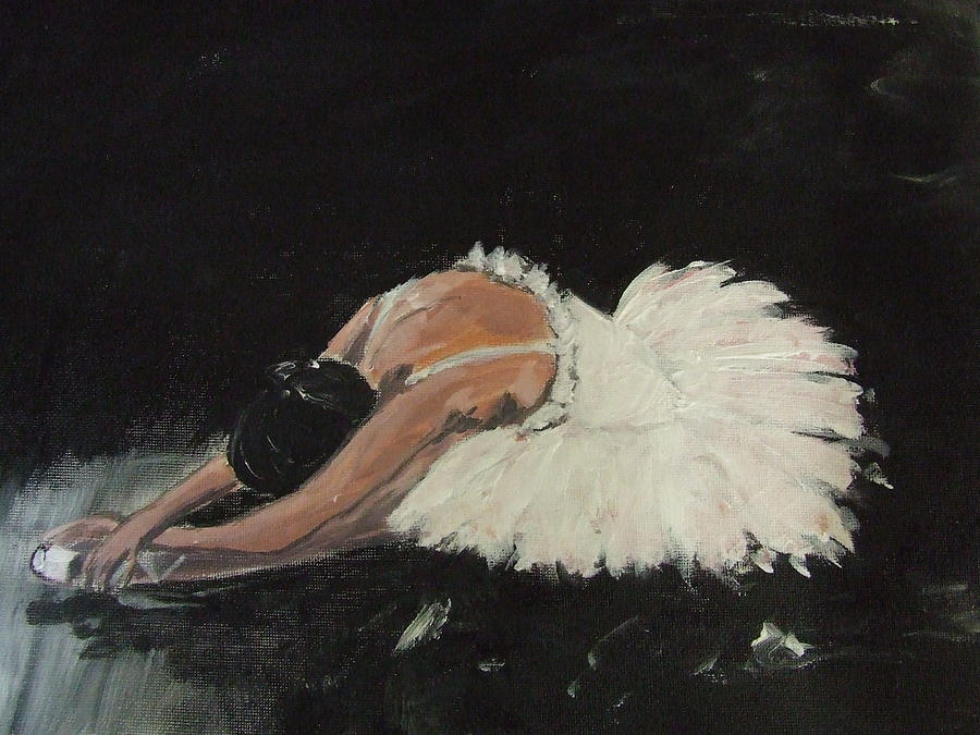 How I feel lately.... a crumpled little ballerina ( Swan Despair by Caroline Martin)