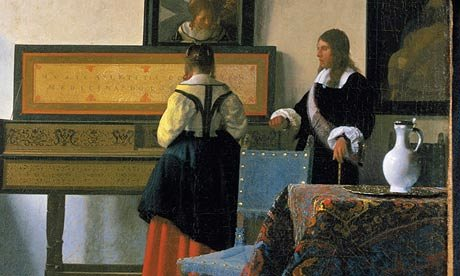 Johannes Vermeer, The Music Lesson,  c.  1662–63