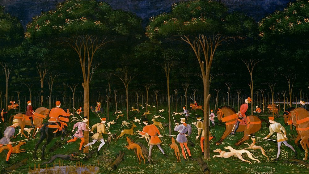 Paolo Uccello, 'The Hunt in the Forest', c. 1470.