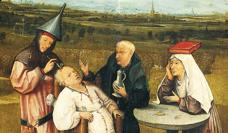 Hieronymus Bosch, 'The Extraction of the Stone of Madness' (DeAgostini)