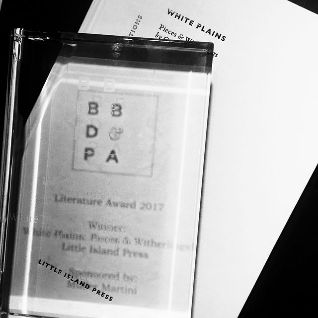 Thrilled to have won the literature category at the British Book Design & Production Awards with White Plains by Gordon Lish! Thanks to the team @bbdpawards for a wonderful night.  #bbdpawards #etaldesigns #philcleaver #whiteplains #gordonlish #bookdesign #bookstagram #winner