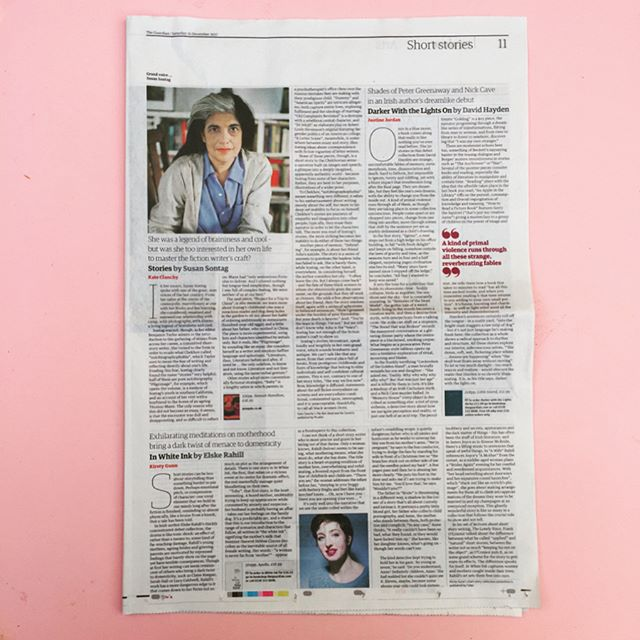 """""""Shades of Peter Greenaway and Nick Cave in an Irish author's dreamlike debut"""" — Justine Jordan reviews 'Darker With The Lights On' in this weekend's @guardian 