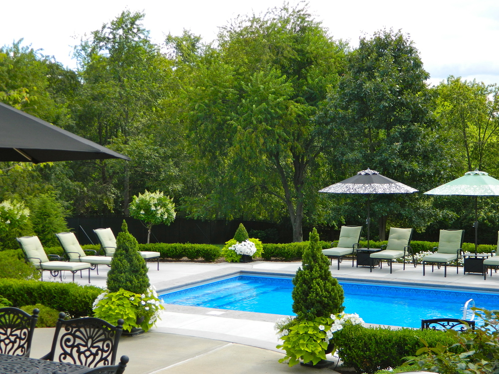 swimming pool landscape design in mars, pa