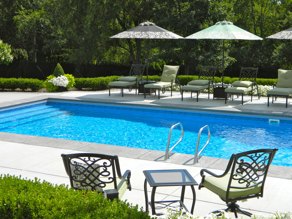 swimming pool outdoor area landscaping design and build mars, pa
