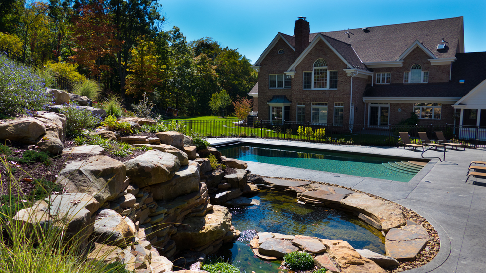swimming pool design landscaping project features in sewickley, pa