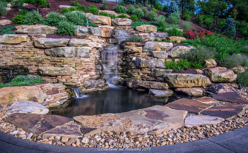 custom waterfall in sewickley, pa