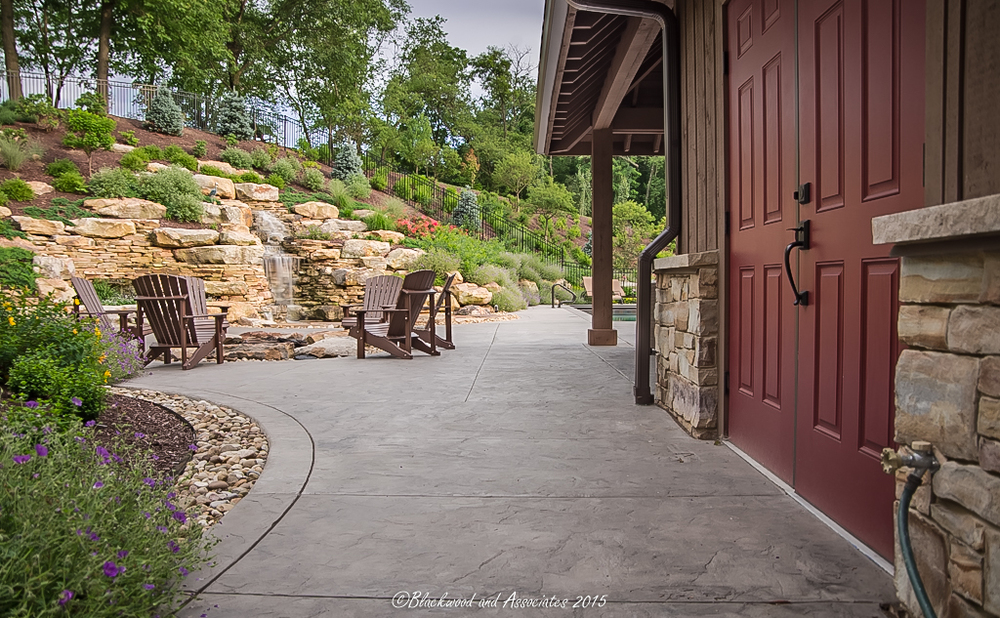 pool house walkway in sewickley, pa