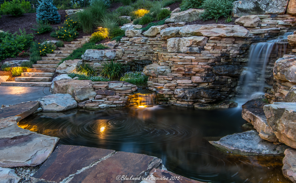 waterfall landscaping in sewickley, pa
