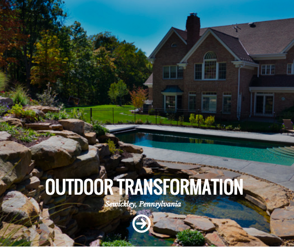 swimming pool landscape design in sewickley, PA
