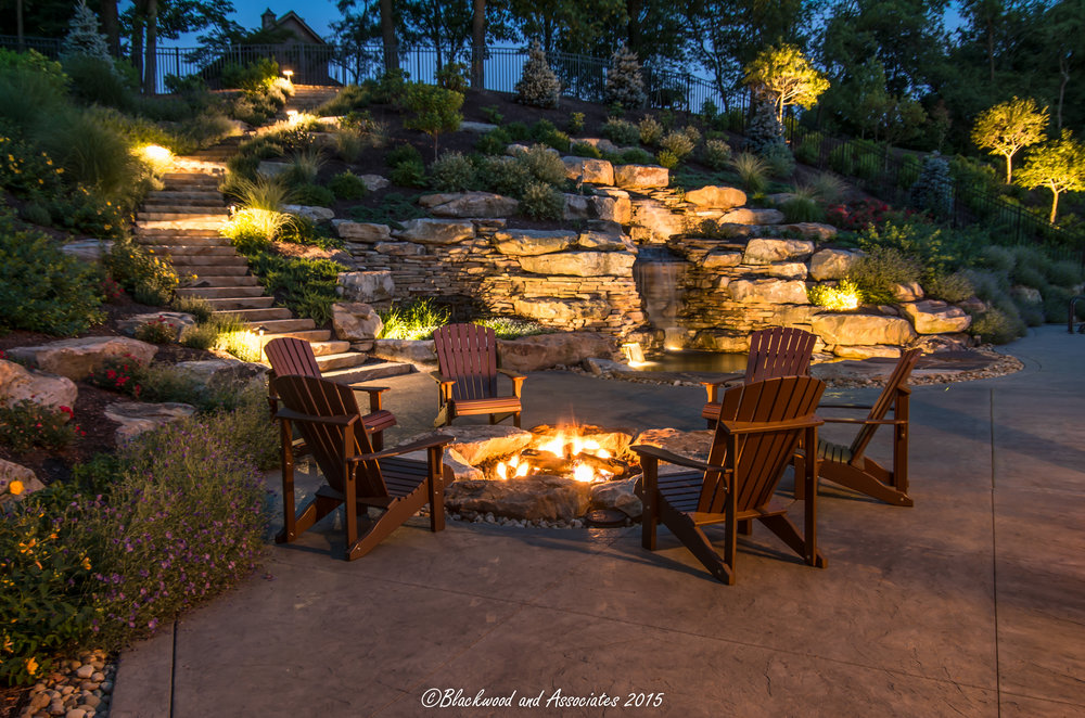 Sewickley, PA fire pit and patio