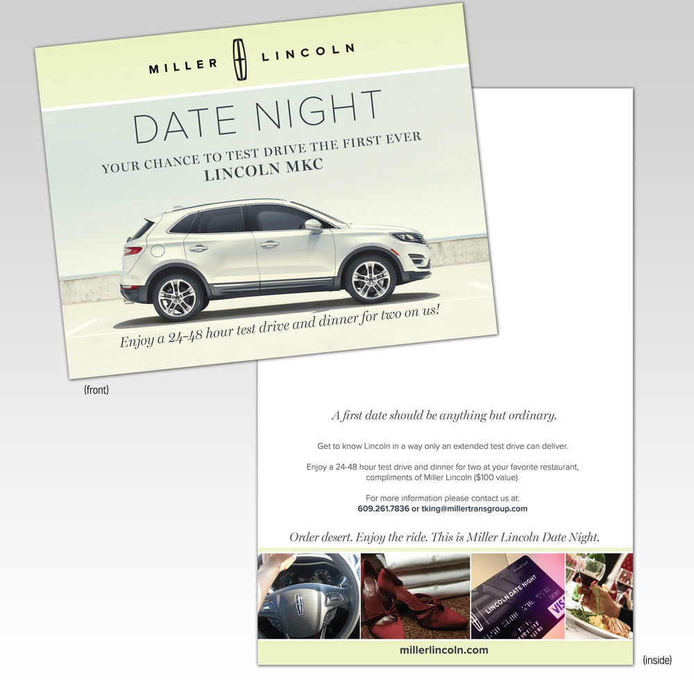 Miller Lincoln Date Night Mailer