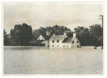 The Mill during flood 1955