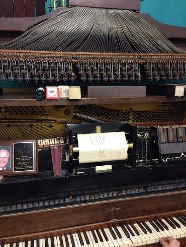 Player Piano With Roll at Tech Works!, Image by Libby Norton
