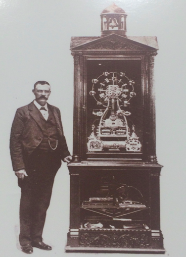 Willard bundy and a version of his Time Clock