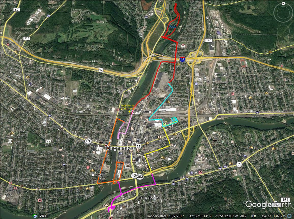 2018 Binghamton Bridge Pedal Route