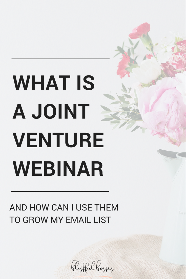 Joint Venture Webinars are the answer to growing your online business fast! Grow your email list, your online presence, your trust factor, and YOUR REVENUE! Click through for the details!