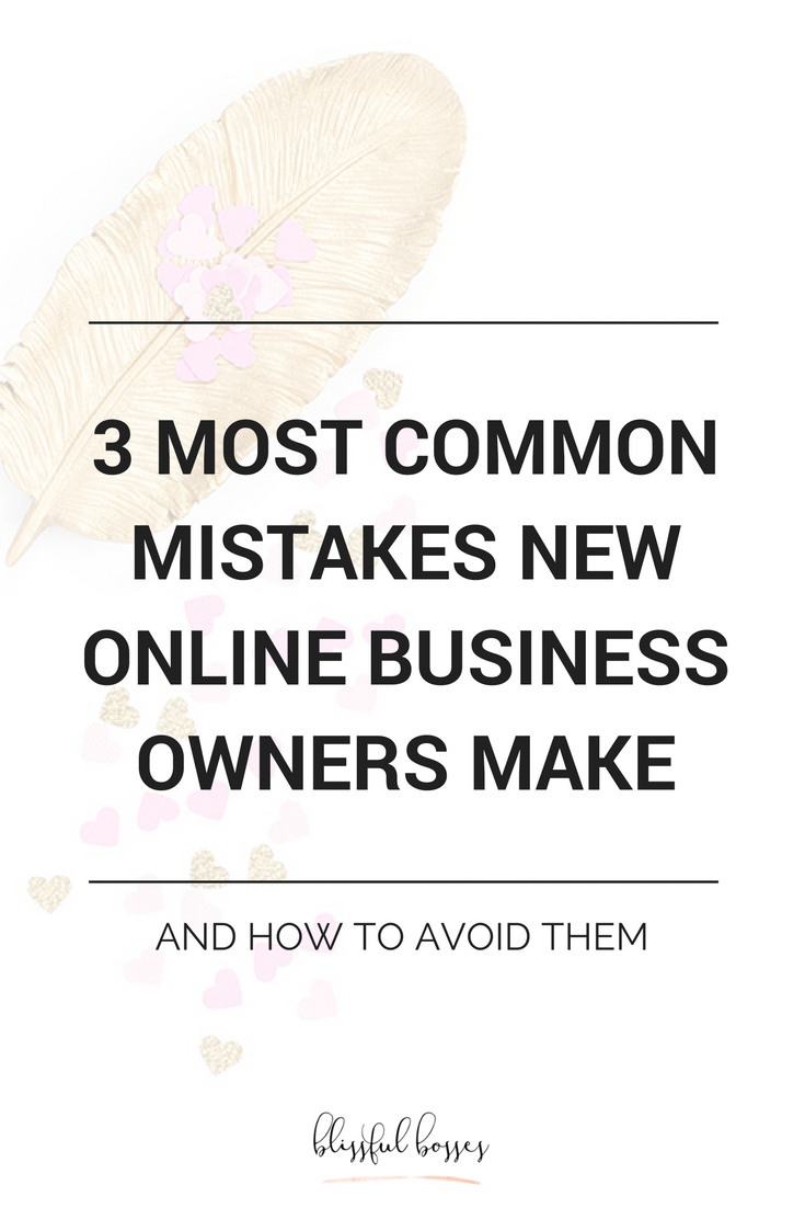 The 3 most common mistakes that new online business owners make that results in slow growth, discouragement, and lack of revenue. Learn how to avoid them with product promotion, a social media marketing strategy, and more. blissfulbosses.com