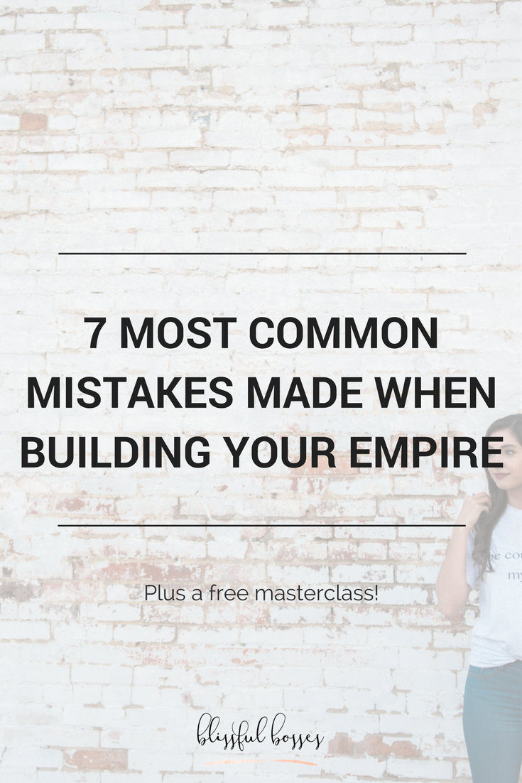 7 Most Common Mistakes Made When Starting An Online Business. Plus a free masterclass on how to create and run a premium program to grow your business financially. Click through to see if you're making these mistakes!