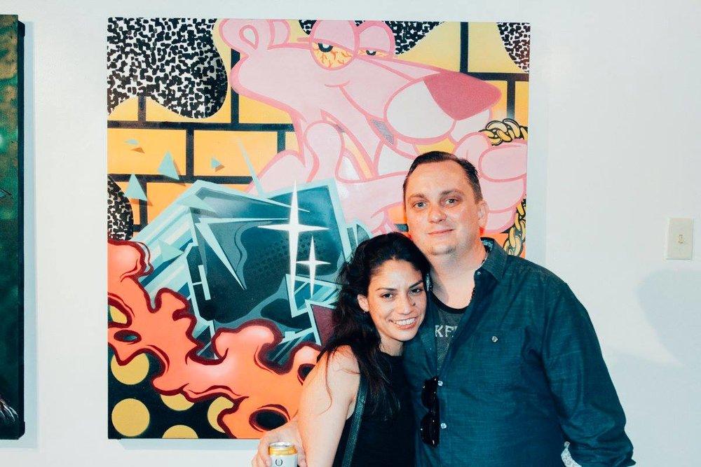 With  Priscilla Alarcon and  Matt Field at  Facet Gallery .