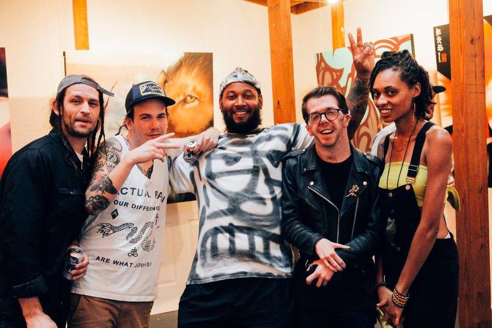 With Talem Cowart,Tanner Wilson,Richard Montgomery,Barry Leeand Tash Nikolat Facet Gallery.