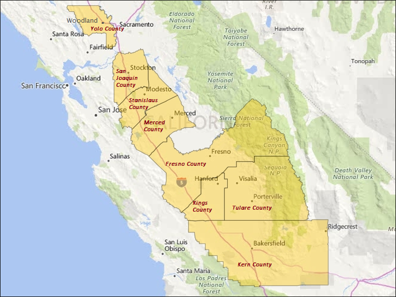 California's Central Valley: Guideposts to Economic ... on map of central valley ca, map of england valleys, map of israel valleys,