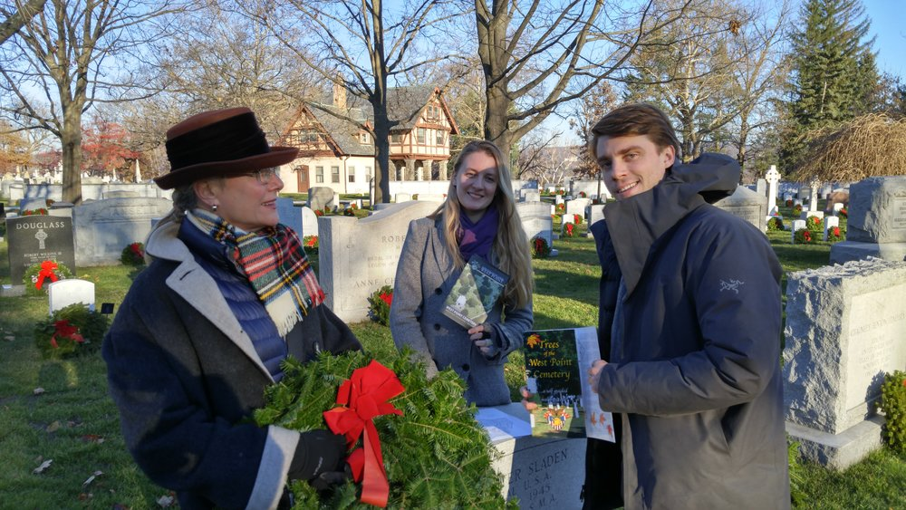 Claire and Paul Saint Donat (middle and right) pay tribute to their Grandfather during National Wreaths Across America Day and will be part of the NYSE Closing Bell ceremony, Aug. 26, 2016