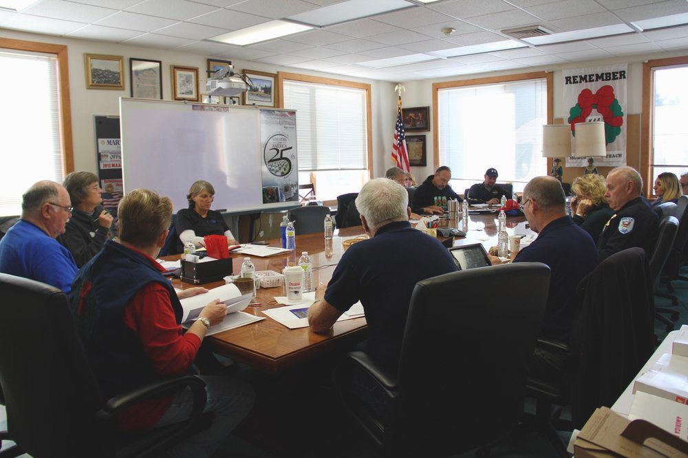 A planning summit at WAA Headquarters for Law Enforcement and Patriot Guard Riders for the 2016 Escort to ANC.