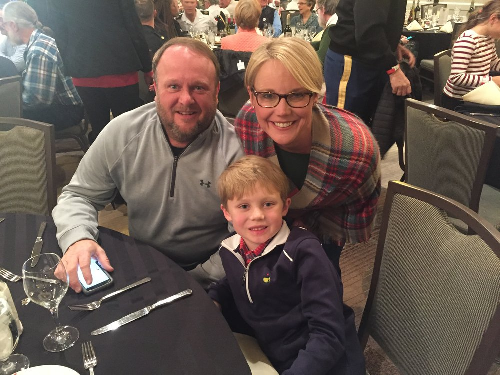 Wendy is seen here with her son Christopher and husband Tim at TCA's Driver's Appreciation Dinner, sponsored by Pilot Flying J.