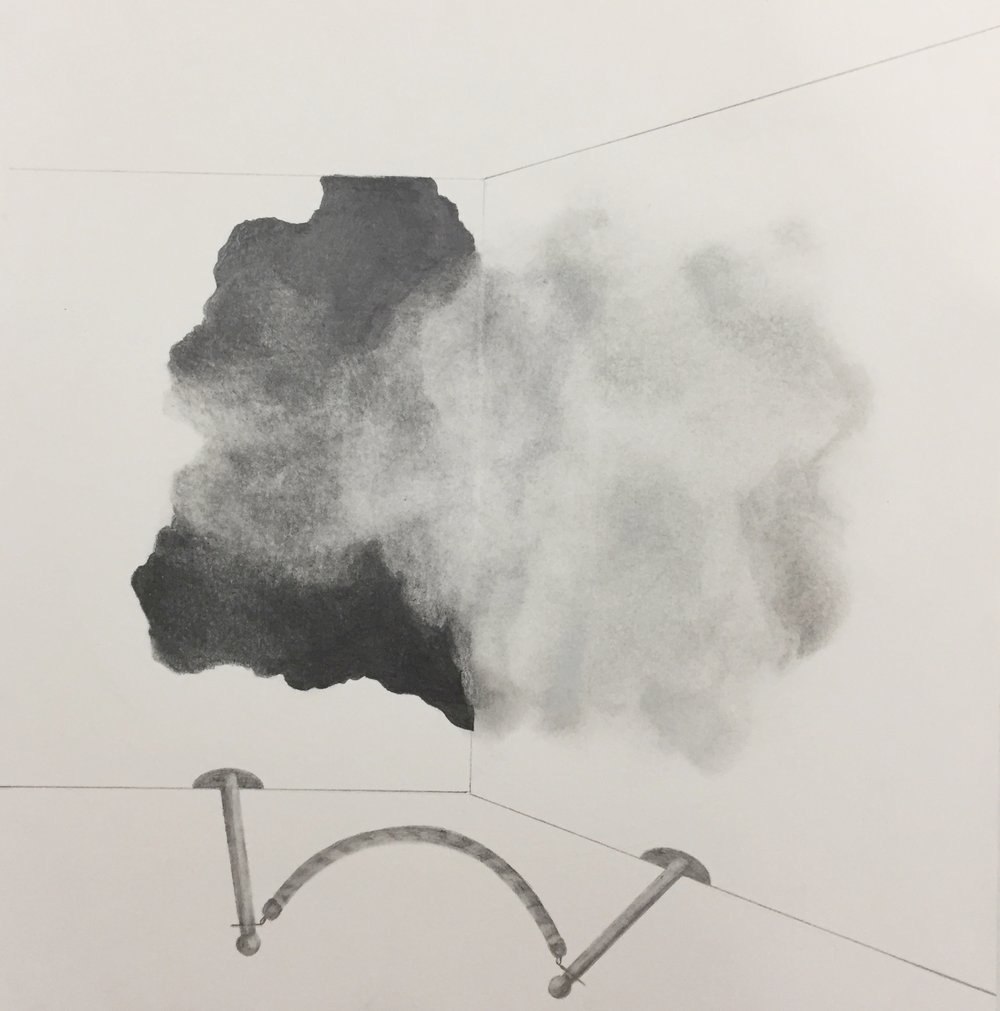 "cloud/exhibit, 2016 graphite on paper, 10"" x 10"" unframed $50.00 - available"