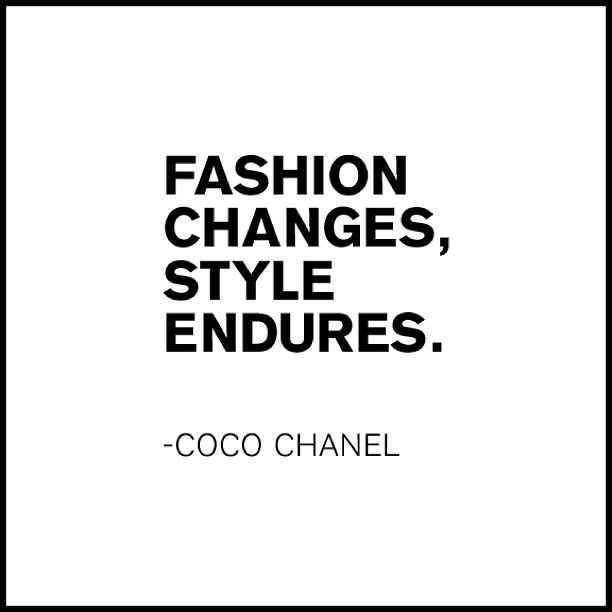 Fashion is your servant, as you Master your Style.